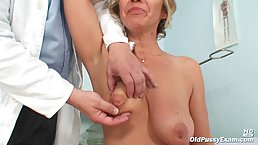 Insatiable Czech granny wouldn't mind having some sexy fun with one of her favorite doctors